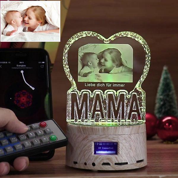 MAMA Gift - Personalized Bluetooth Music Light Engraved Crystal Lamp